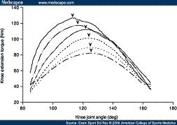 Knee Extension Torque v Angle